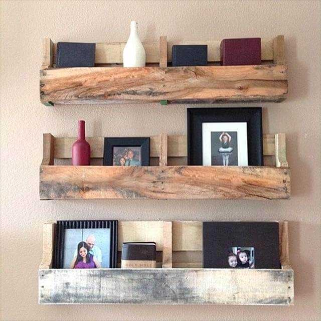 Pallet Shelves Ideas: 12+ Wall Storage Ideas That Will Keep Your Home Nicely