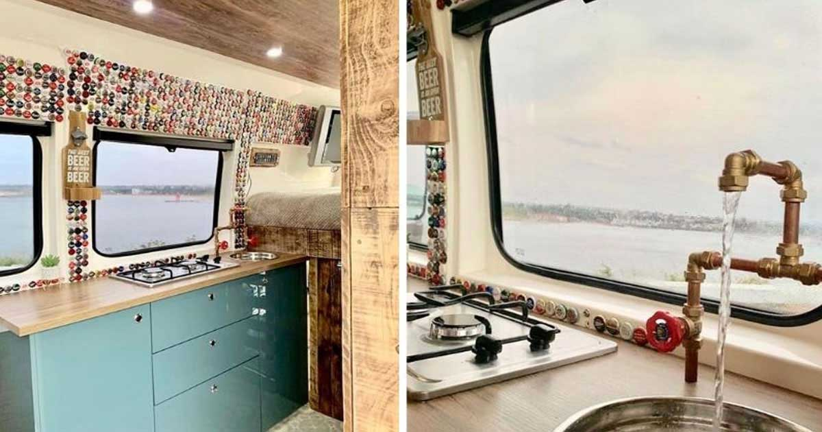 Couple Transforms An Old Ambulance Into A Beautiful Camper Van